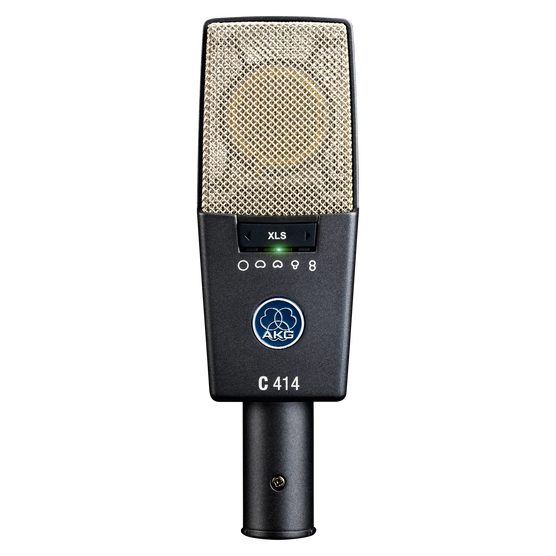 C414 XLS - Black - Reference multipattern  condenser microphone - Hero