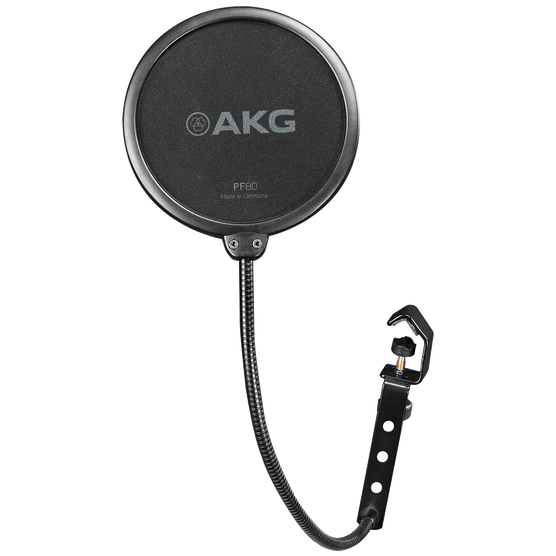 PF80 - Black - Universal pop filter for use with vocal recording microphones - Hero