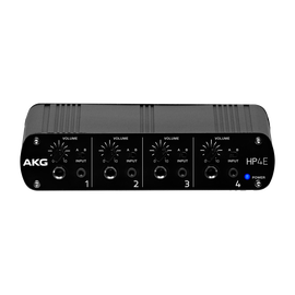 HP4E - Black - 4-channel headphone amplifier - Hero