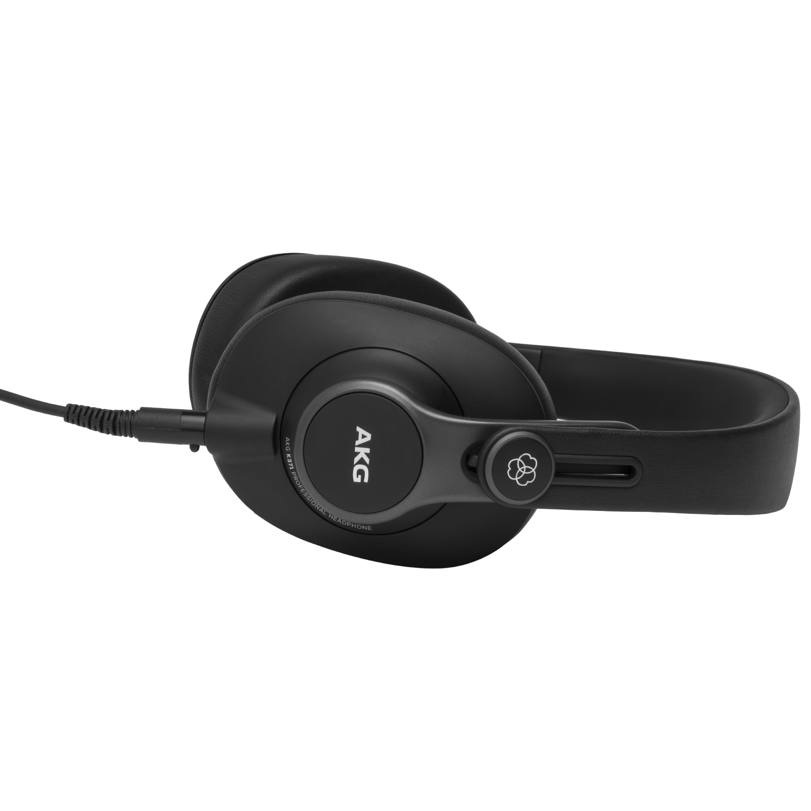 K371 - Black - Over-ear, closed-back, foldable studio headphones - Left