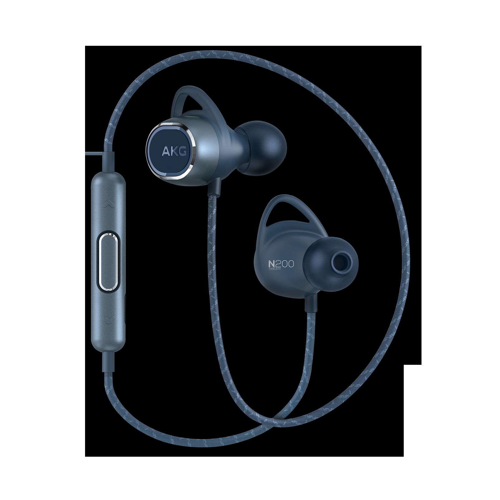 AKG N200WIRELESS - Blue - Reference wireless in-ear headphones - Hero